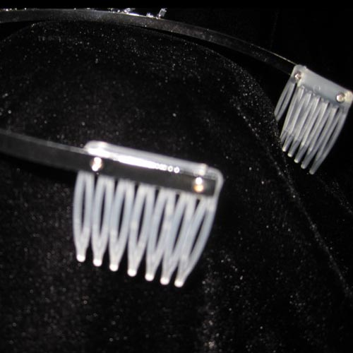 crowns with plastic combs