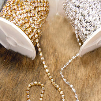 material in silver and gold color