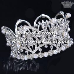 Wholesale Beauty Crystal Full Round Princess Crowns