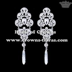 Alloy Crystal Wedding Party Earrings