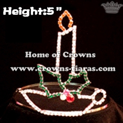 5inch Crystal Candle Pageant Crowns