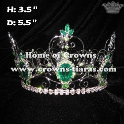 Full Round Queen Crowns In Green Diamond