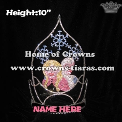 10inch Elsa Anna Frozen Crystal Pageant Crowns