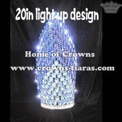 20in Big Tall Big Diamond Lighting Up Pageant Crowns
