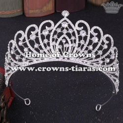 Wholesale Alloy Pageant Crowns With Diamonds