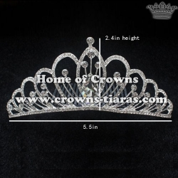 Alloy Crystal Wedding Tiaras With Combs