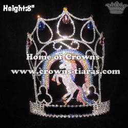Wholesale Vintage Crystal Unicorn Pageant Crowns
