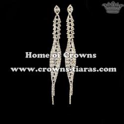 Fashion Crystal Rhinestone Youth Party Earrings