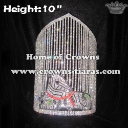10in Height Crystal Zebra Jungle Pageant Crowns