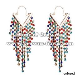 Wholesale Alloy Crystal Fashion Earrings