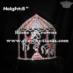 Crystal Merry Go Round Horse Pageant Crowns