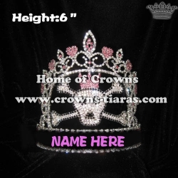 6inch Skull Crystal Pageant Crowns