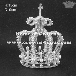 Crystal Full Round Crowns With Pearl Diamonds