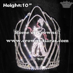 10in Height Wholesale Crystal Cinderella Crowns