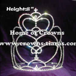 8inch Heart Unique Crystal Crowns