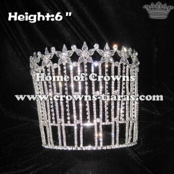 6inch Height Crystal Queen Crowns