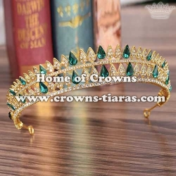 Wholesale Gold Diamond Wedding Queen Tiaras