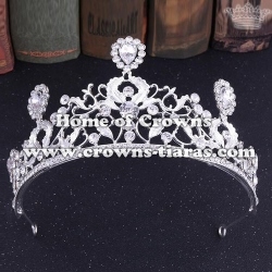 Crystal Flower Party Queen Crowns In Gold