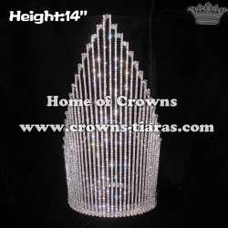 14in Large Big Crystal Pageant Queen Crowns