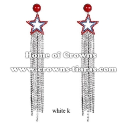 Fashion Star Earrings With Long Beads Chain