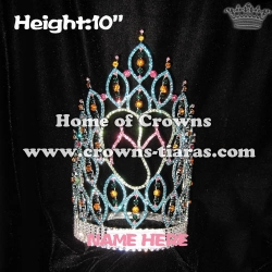 10in Height Slipper Summer Queen Crowns