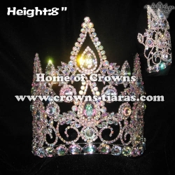 Wholesale Crystal Pageant Crowns With AB Diamonds