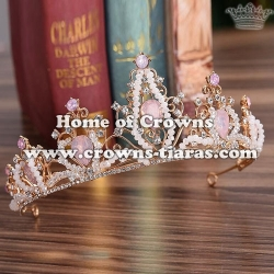 Crystal Princess Party Tiaras With Handmade Beads