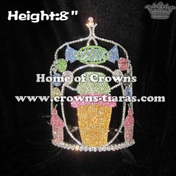 8inch Unique Candle Crystal Crowns