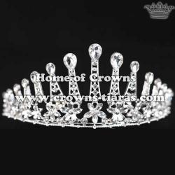 Beauty Diamond Tiaras In Flower Shaped
