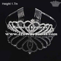Heart Shaped Crystal Dancing Party Tiaras