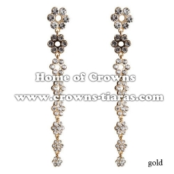 Crysal Flower Shaped Party Earrings