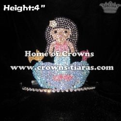 Crystal Mermaid Pageant Crowns With Fish