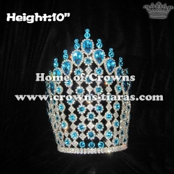 10in Height Big Diamond Pageant Queen Crowns