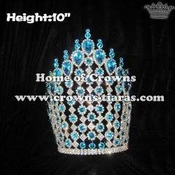Big Tall Blue Diamond Crystal Crowns