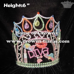 Crystal Valentines Pageant Crowns