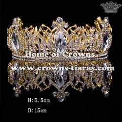Gorgeous Full Round Pageant Crowns With Diamond