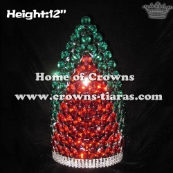 12in Crystal Lighting Up Pageant Crowns
