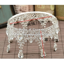 Crystal Diamond Pageant Full Round Crowns