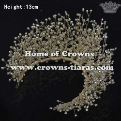 Handmade Pageant Crowns With Crystal Beads