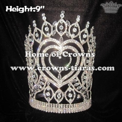 Wholesale Crystal Heart Shaped Pageant Crowns