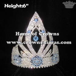 Wholesale Custom Rhinestone Snowflake Pageant Crowns