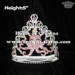 Crystal Sea Octopus Custom Pageant Crowns