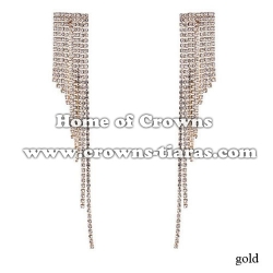 Long Rhinestone Fashion Wedding Earrings