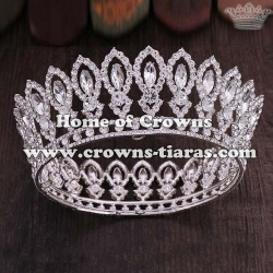 Wholesale Full Round Pageant Crowns With Diamonds