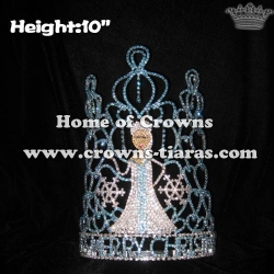 Wholesale Custom Snowflake Elsa Christmas Pageant Crowns