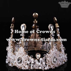 Wholesale Full Round Queen Crowns With Diamonds