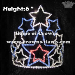 Star Shaped Rhinestone Pageant Crowns