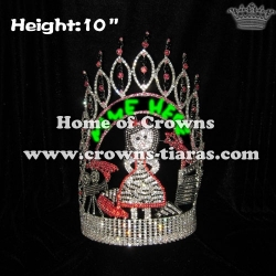 10in Height Customed Hollywood Movie Star Queen Crowns