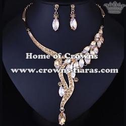 Wholesale Simple Wedding Party Necklace Set