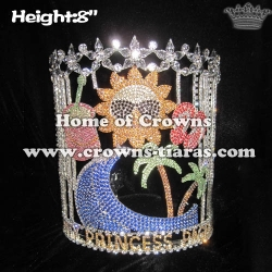 Wholesale Crystal Plam Tree Slipper Pageant Crowns